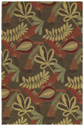 Kaleen Rugs Home and Porch Tybee Area rug, 1.5m by 2.1m, Coffee