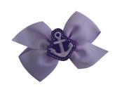 Girls Nautical Anchor Pinwheel Hair Bow SET