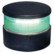 Aqua Signal All Round Green LED Navigation Light with Black Housing
