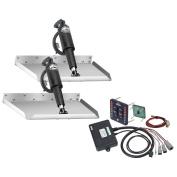 Lenco Marine 30cm x 46cm Edgemount Trim Tab Kit with LED Indicator Switch Kit 12V TT12X18EI