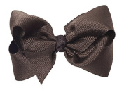 Anna Belen Girls Lila Large Grosgrain Bow Clip O/S Brown Size: One Size Colour