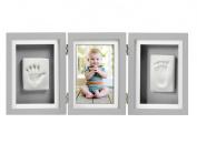 Pearhead Babyprints Handprint and Footprint Deluxe Keepsake Desk Frame