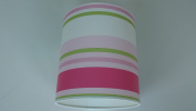 """14""""/35cm Paige stripes Green,Pink and White light shade / lampshade..Handmade."""