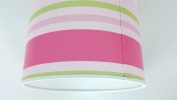 """12""""/30 cm Paige stripes Green,Pink and White light shade / lampshade..Handmade."""