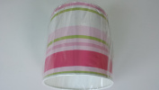 """8""""/20 cm Paige stripes Green,Pink and White light shade / lampshade..Handmade."""
