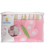 "Big Oshi ""Butterfly Blossom Collection"" 4-Piece Crib Set - pink, one size"
