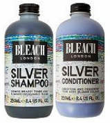 (2 PACK) Bleach Lodon Silver Shampoo x 250ml & Bleach London Silver Conditioner x 250ml
