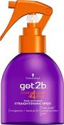 Schwarzkopf got2b Crazy 4 Sleek Days Heat-Activated Straightening Spray 200 ml - Pack of 6