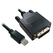 kenable Mini Display Port Male Plug to DVI-D 24+1 Male Video Cable Black 3m