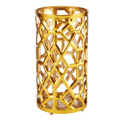 Mikasa 25cm Gold Metal Candle Holder
