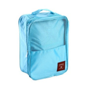 Portable Waterproof Shoe Shoes Storage Bag Pouch Organiser Tote for Travel, Blue