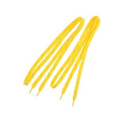 Pair Glitter Tinsel Slanted Stripes Pattern Sneakers Shoelaces Yellow