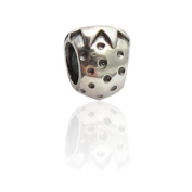 Charmies Strawberry Bead in antique Silver/Compatible with Pandora, Amore Baci, Chamilia... & Silver 925