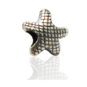 Charmies Star in antique Silver/Compatible with Pandora, Amore Baci, Chamilia... & Silver 925