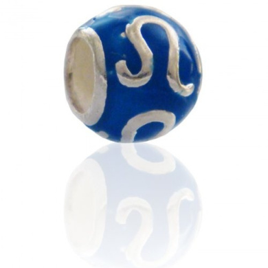 Lion Charmies Silver and Enamel Bead. Compatible with Pandora, Amore Baci, Chamilia... & Silver 925