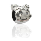 Charmies Little Girl Bead in Antique Silver. Compatible with Pandora, Amore & Baci and Chamilia, etc Silver 925