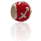 Sagittarius Charmies Silver and Enamel Bead. Compatible with Pandora, Amore Baci, Chamilia... & Silver 925