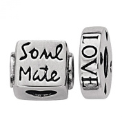 Link Up Sterling Silver Soul Mate Bead Set Of 2