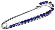 Signature Tiara Small Royal Blue Crystal Kilt Pin Brooch