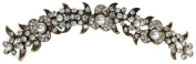 Signature Tiara Antique Gold Austrian Crystal and Pearl Hair Comb