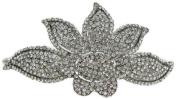 Signature Tiara Austrian Crystal Large Flower Tiara