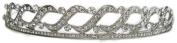 Signature Tiara Elegant Silver With Austrian Crystal Headband/ Tiara