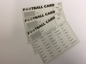 40 Team Football Fundraising Scratch Cards Pack of 100