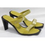 TOD'S Women's Sandalo+Paillettes Vertigo Donna Lime Green Heels Shoes US 9 /39