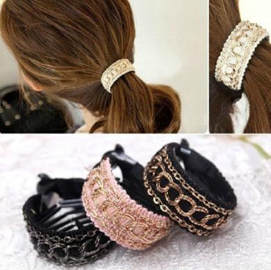 Cuhair(tm) 3pcs Girl Women elastic force Ponytail Holders hair Ties Rope bands rubber Scrunchie Accessories