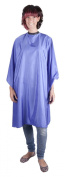 Professional BLUE Sleeveless Hairdressing Gown - Water-Repellent - Adjustable Neck