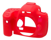 EasyCover Silicone Armour Skin Case Cover Protector for Canon 5D Mk3 Camera - Red