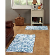 Hand Woven Paper Shag Rug Set of 2