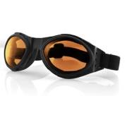 Headgear Bugeye Goggle, Black Frame, Amber Lens