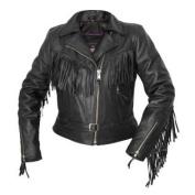 Interstate Leather Ladies Fringe Jacket