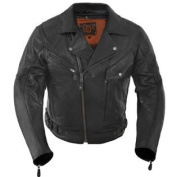 True Element Mens Premium Motorcycle Leather Jacket with Removable CE Standard Armour