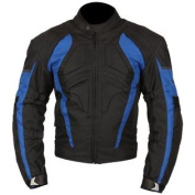 Milano Sport Gamma Motorcycle Jacket with Blue Accent