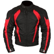Milano Sport Gamma Motorcycle Jacket with Red Accent