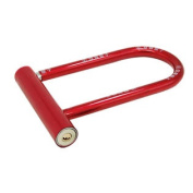 Tough U Shaped Alloy Metal Bicycle Lock with 2 Keys Red