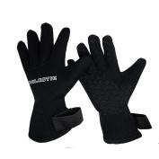 Palantic Black 3mm Neoprene Gloves with Extra Warmth Titanium Coating, XX-Large