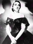 PHOTOGRAPHY MARIA CALLAS OPERA SINGER BLACK WHITE PORTRAIT 46cm X 60cm POSTER ART PRINT LV10995