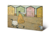 Sam toft Along The Prom Small Wooden Wall Art