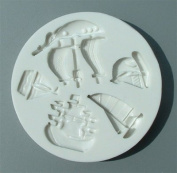 Ships & Boats - Silicone Icing Moulds for Cake and Cupcake Decoration