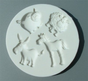 Farm Animals - Silicone Icing Moulds for Cake and Cupcake Decoration