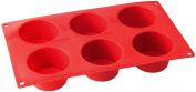 Dr. Oetker 6-Piece Flexible Silicone Pans Muffin Form