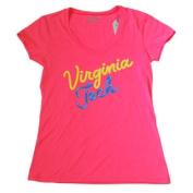 Virginia Tech Hokies Gear for Sports Hot Pink Womens V-Neck T-Shirt