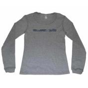 Dayton Flyers Women Grey Navy Knit Long Sleeve T-Shirt