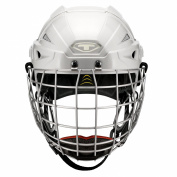 Tour Hockey Spartan Gx Hocley Helmet with Cage, White, Medium