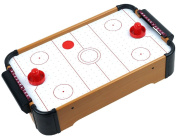 Wooden Mini Table Top Air Hockey Game Set 50cm - Battery Operated