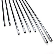 Brybelly Hollow 1.6cm Steel Rods for Standard Foosball Tables