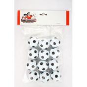 Set of 12 Soccer Ball Style Foosballs for Tornado Dynamo or Shelti Tables